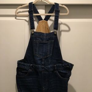 Gap women's fitted denim overalls